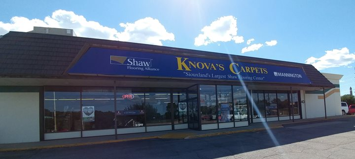Welcome to knova 39 s carpets inc in sioux city for Craft stores in sioux city iowa